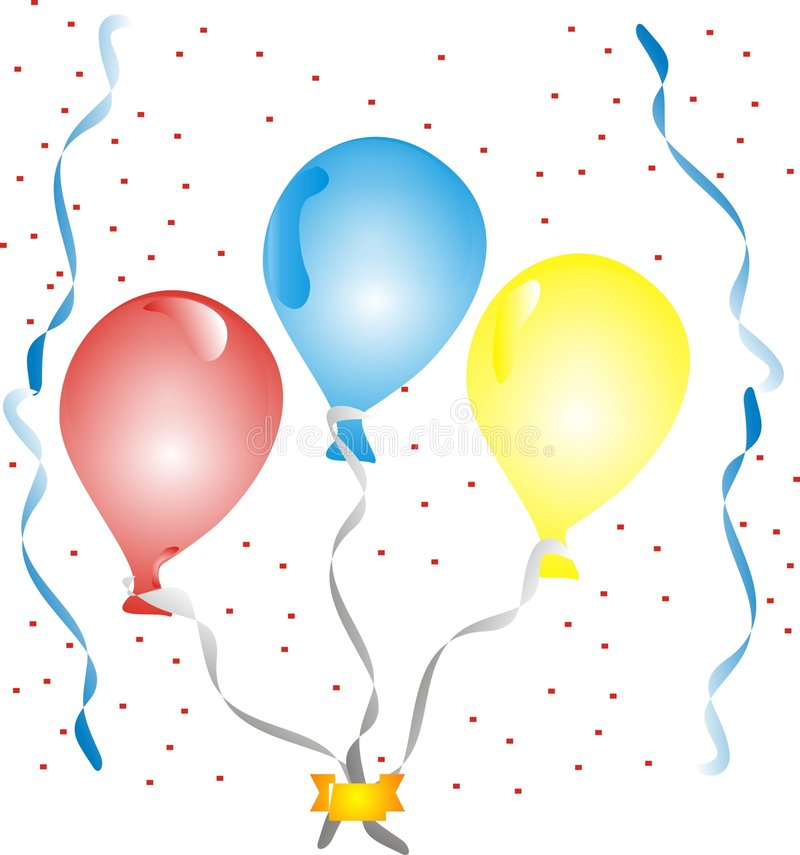Download Ballons and confetti stock vector. Illustration of card - 7144396