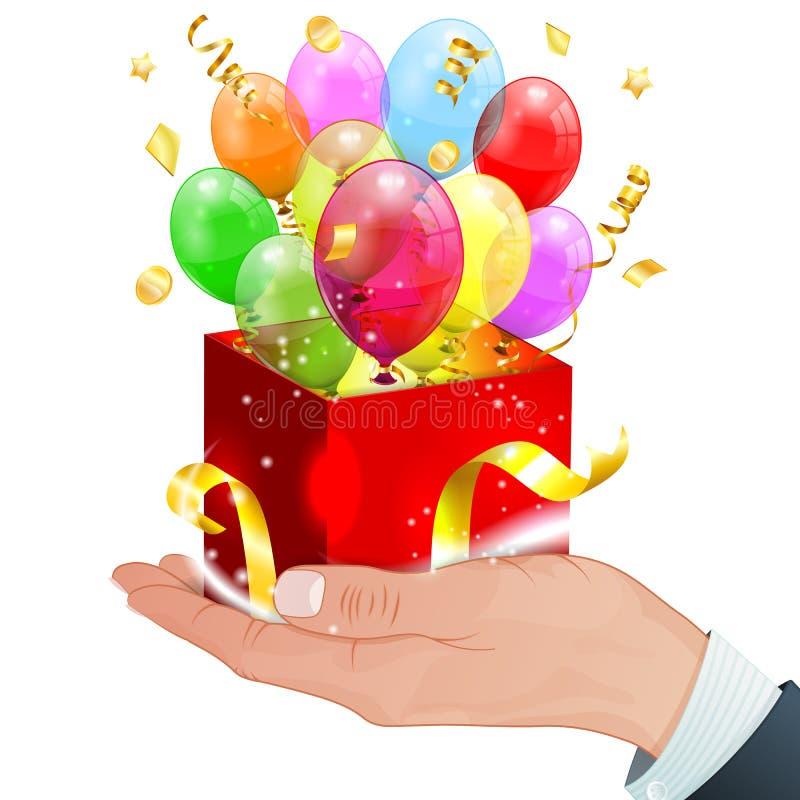 Ballons d'anniversaire illustration libre de droits