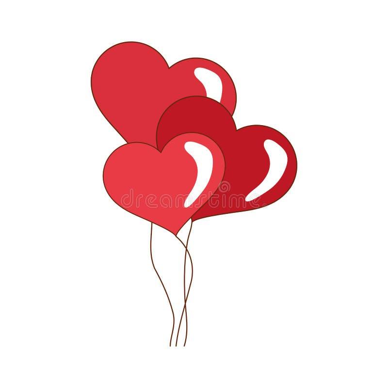 ballons d 39 ic ne de forme de coeur conception d 39 amour dessin de vecteur illustration de vecteur. Black Bedroom Furniture Sets. Home Design Ideas
