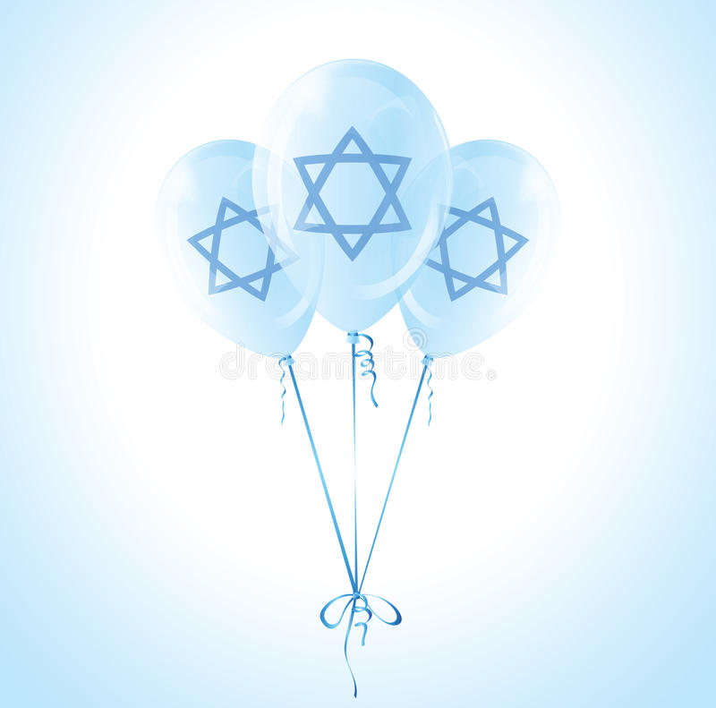Ballons d'Israel Independence Day illustration de vecteur
