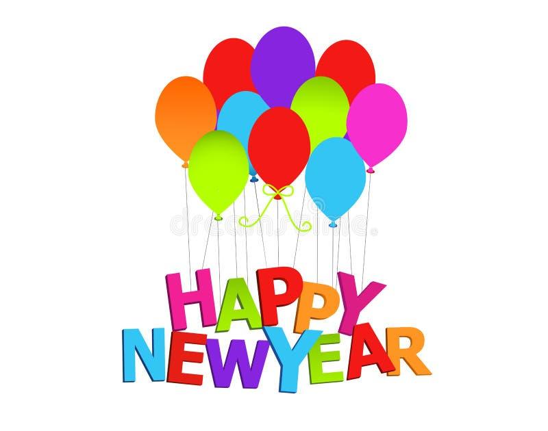 Ballons de bonne année D'ISOLEMENT illustration libre de droits