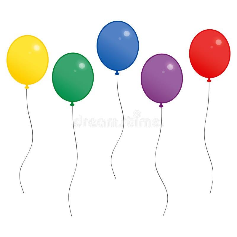 Ballons de célébration illustration de vecteur