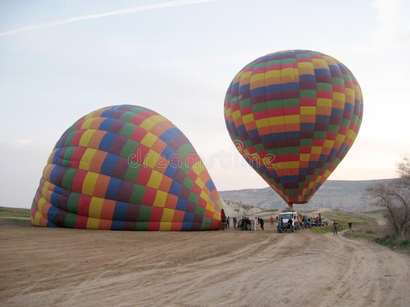 Ballons de Cappadocia images libres de droits