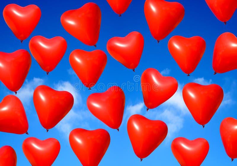 Ballons de coeur de Valentine illustration libre de droits