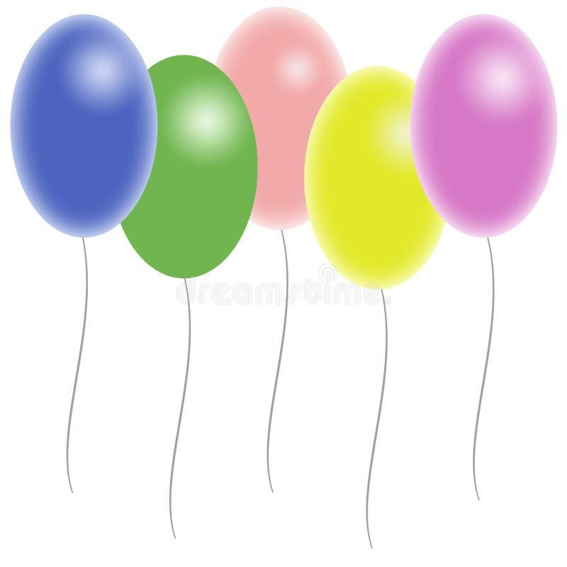 Ballons de couleur illustration stock