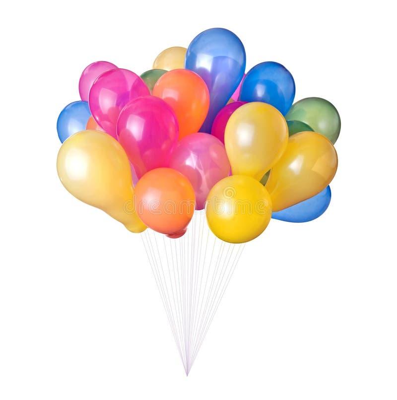 Ballons de couleur d'isolement images stock