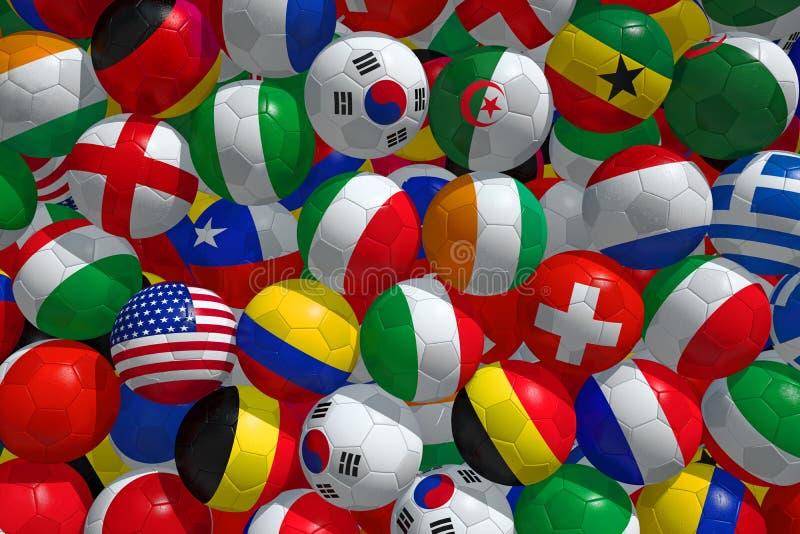 Ballons de football image stock