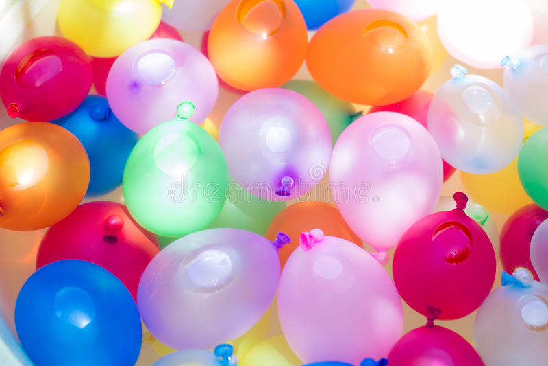 Ballons de l'eau photos libres de droits