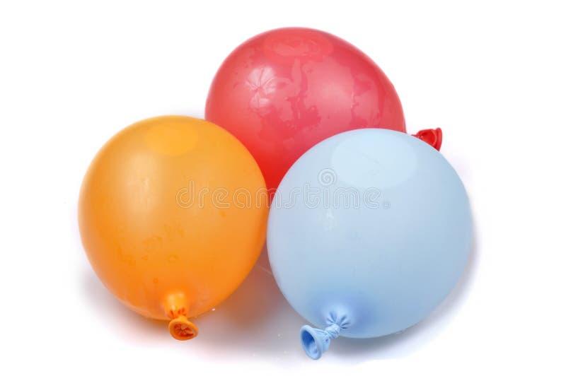 Ballons de l'eau d'isolement photographie stock