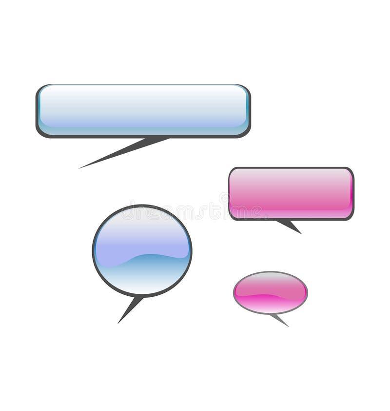Ballons de la parole illustration stock