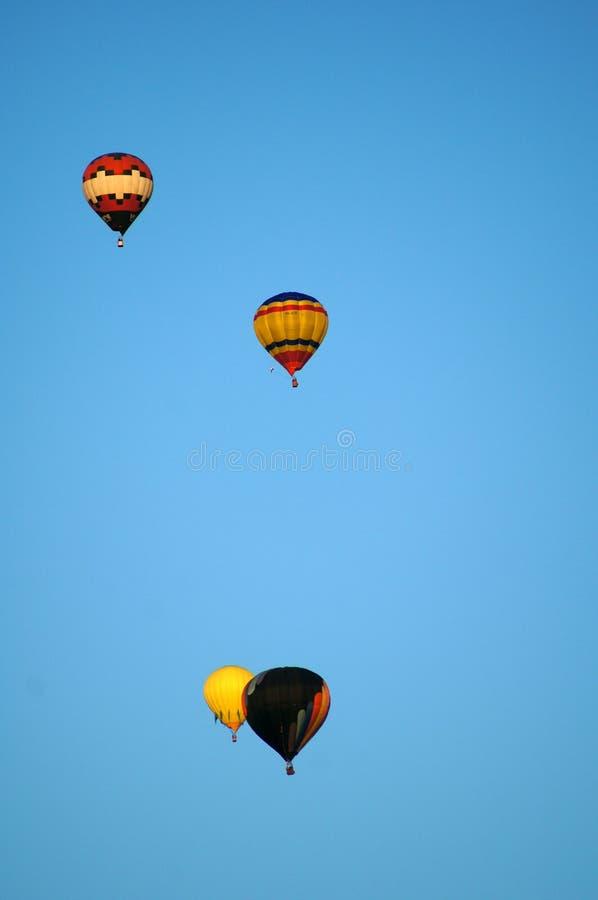 Ballons in de lucht royalty-vrije stock afbeelding
