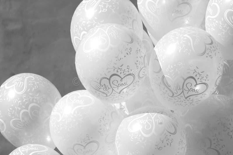 Ballons de mariage photographie stock libre de droits