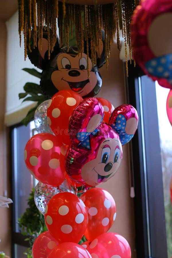 Ballons de Mickey Mouse photographie stock