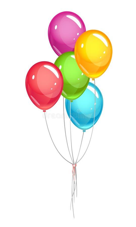 Ballons de partie image stock