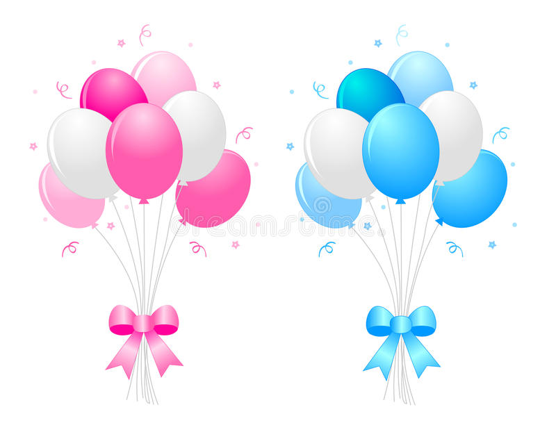 Ballons de réception illustration stock