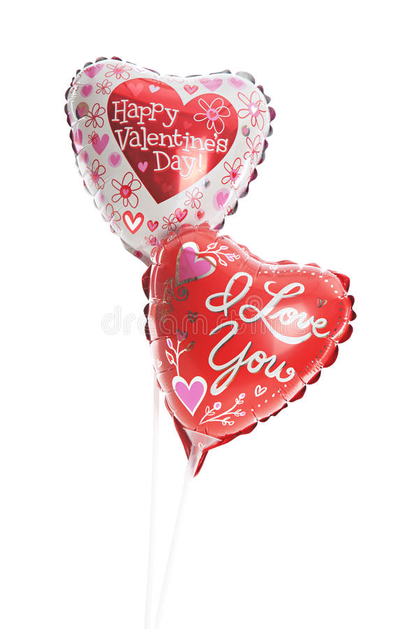 Ballons de Valetine Mylar photos stock