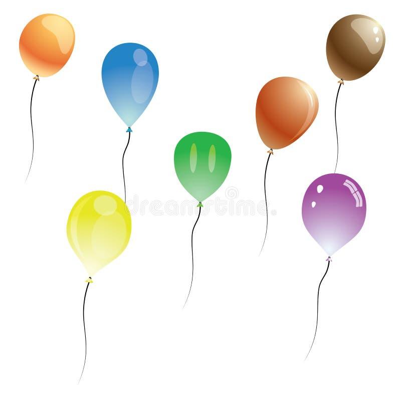 Ballons de vecteur illustration stock