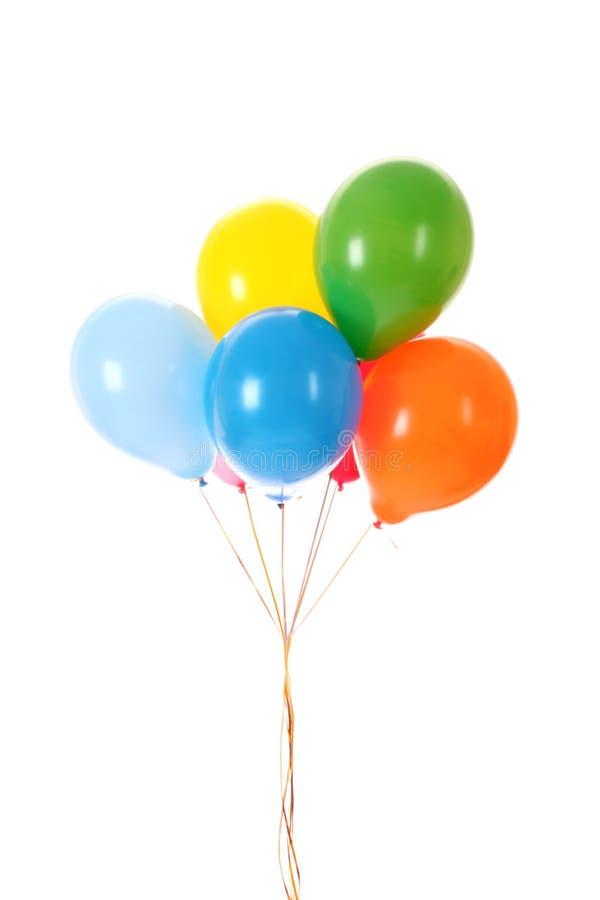 Ballons de vol d'isolement photographie stock