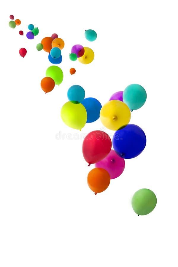 Ballons die naar omhoog drijven royalty-vrije stock afbeeldingen
