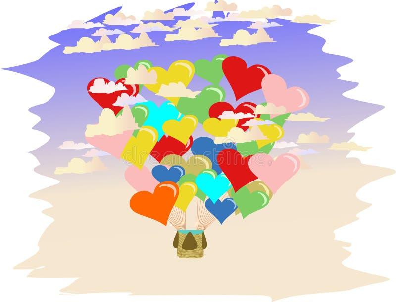 Ballons do amor ilustração stock