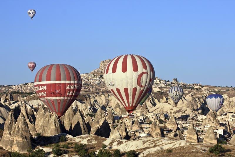 Ballons do ar quente imagens de stock