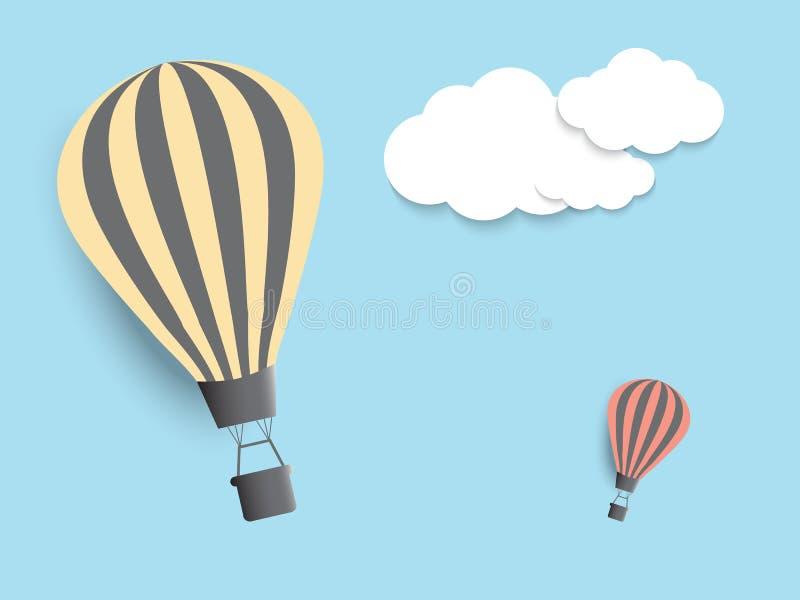 Ballons do ar quente no céu EPS10 ilustração royalty free