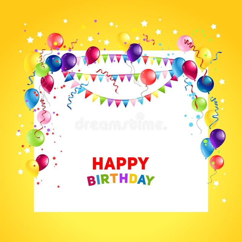 Ballons do feriado do aniversário ilustração stock