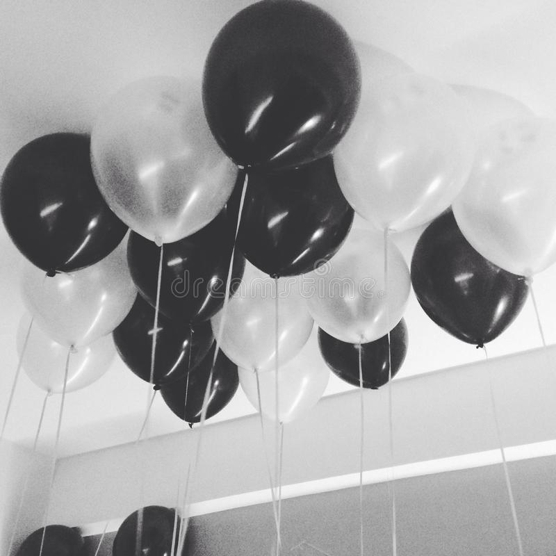 Ballons dream. Just make a simple dream with black and white colours stock photo
