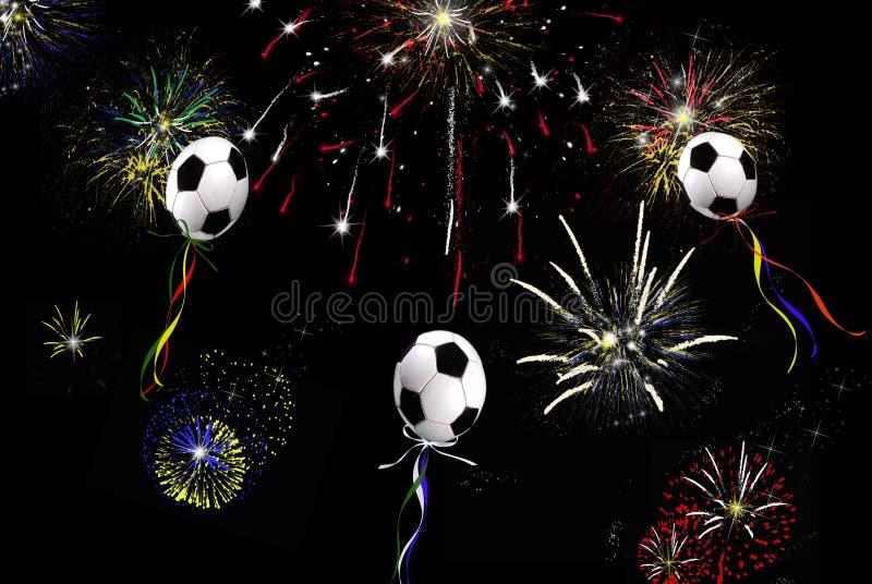 Ballons du football illustration stock
