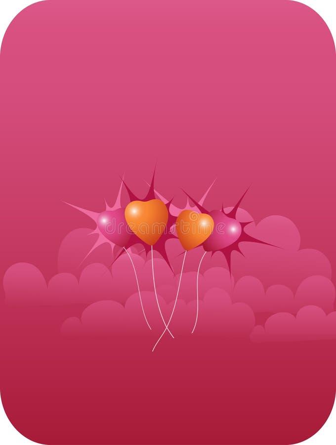 Ballons en haut illustration de vecteur