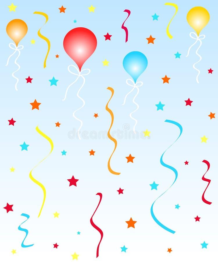 Ballons en sterren vector illustratie