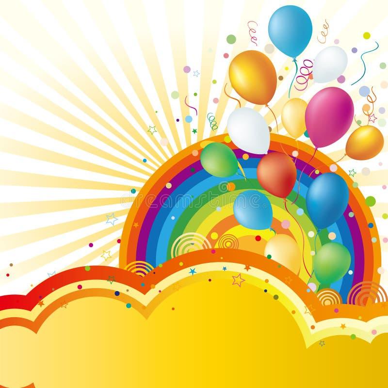 ballons en viering royalty-vrije illustratie