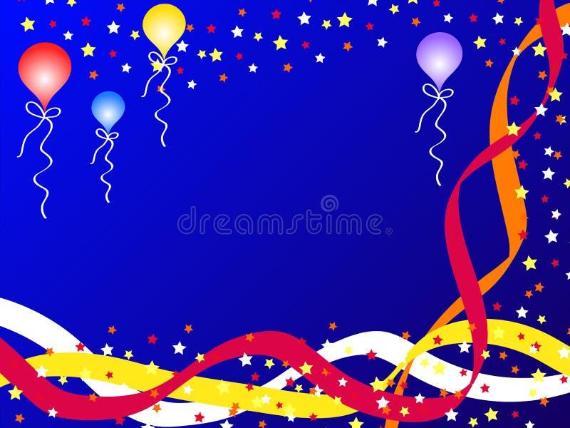 Ballons et bandes illustration de vecteur