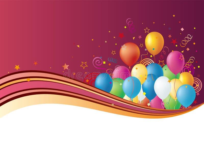 Ballons Et Célébration Images libres de droits