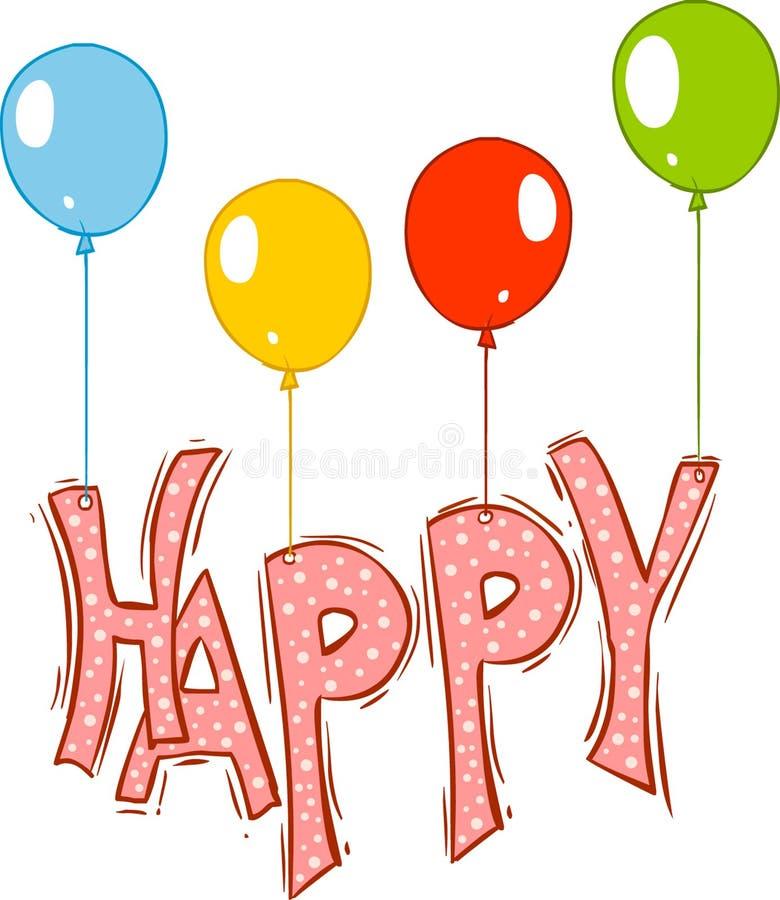 Ballons felizes ilustração stock