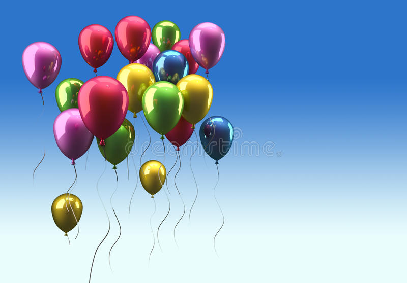 Ballons Flying Stock Image