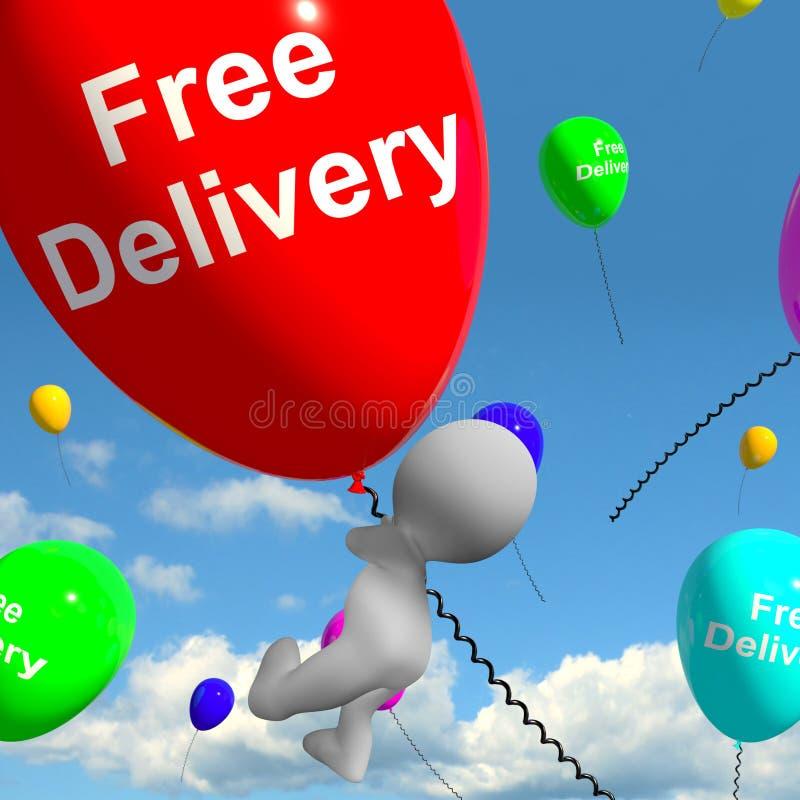 Ballons gratuits de la livraison ne montrant aucune charge ou livrer gratuitement illustration libre de droits