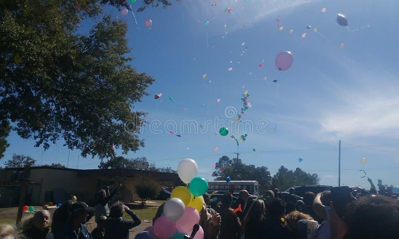 Ballons het drijven stock foto's