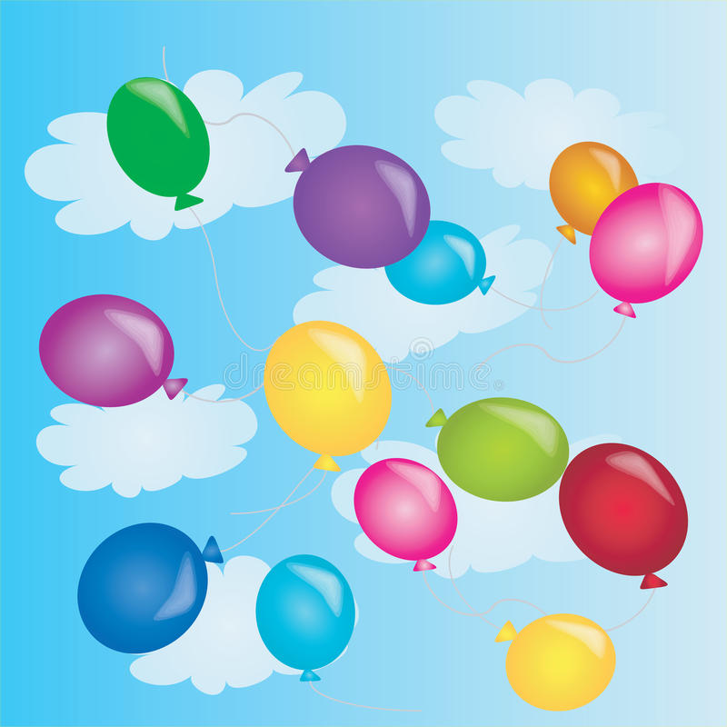 Free Ballons In The Sky Stock Images - 14935734