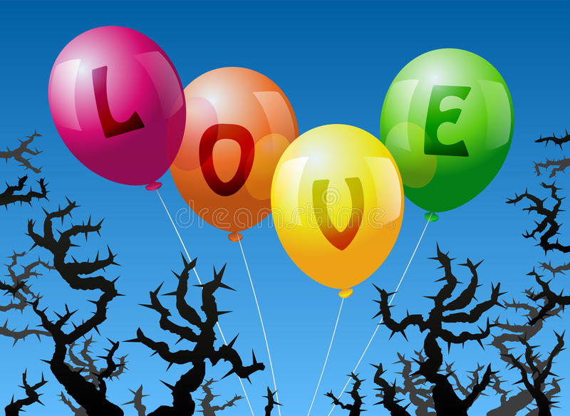Balloons Love Royalty Free Stock Photography