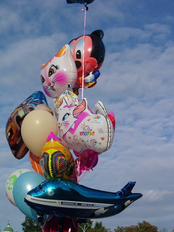 Ballons lumineux de bébé image libre de droits
