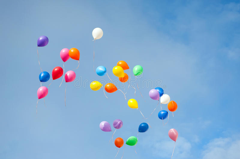 Ballons multicolores images stock