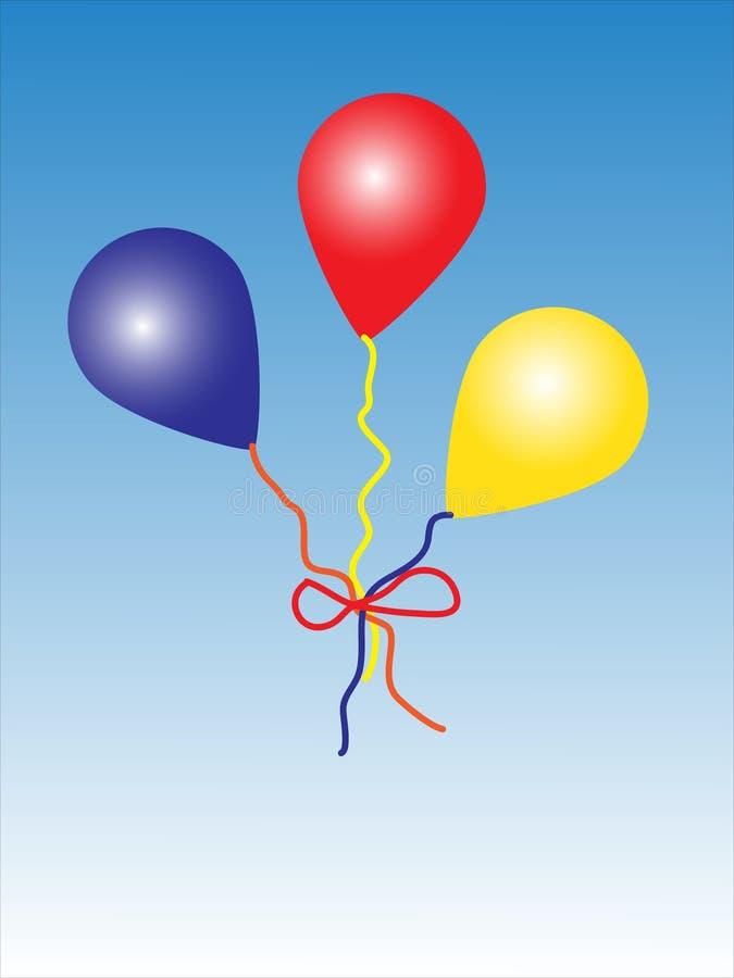 Ballons multicolores photo stock