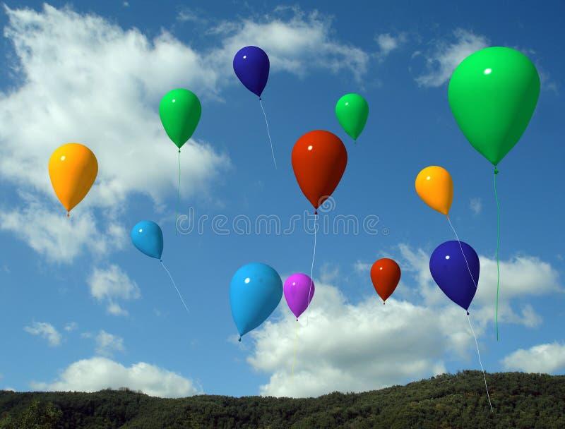 Ballons no ar ilustração royalty free