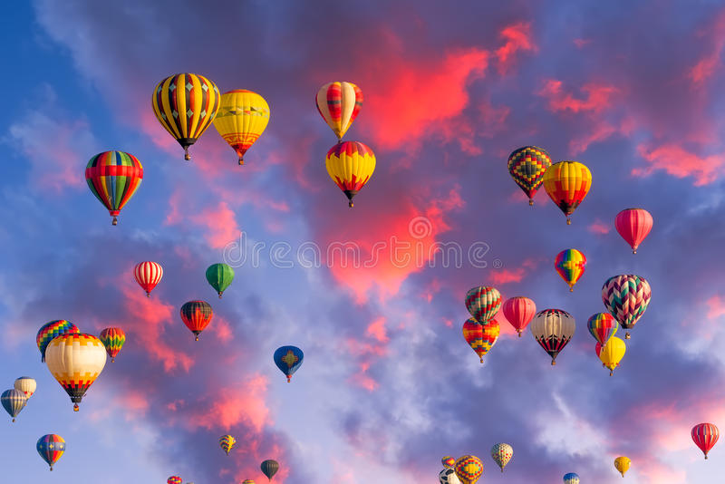 Ballons over Albuquerque royalty-vrije stock afbeelding