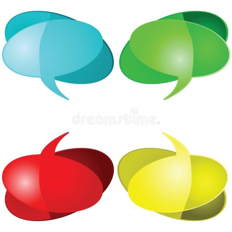 Ballons parlants illustration de vecteur