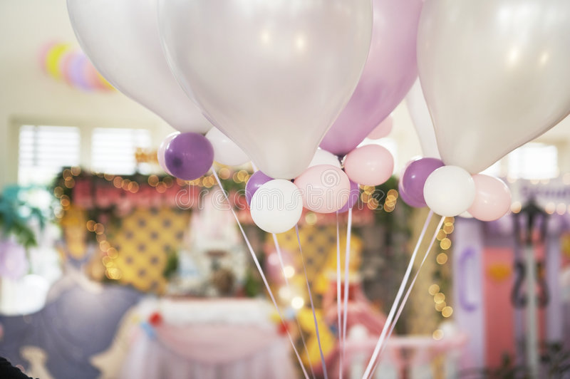 Download Ballons in a party stock image. Image of smooth, birthday - 5194741
