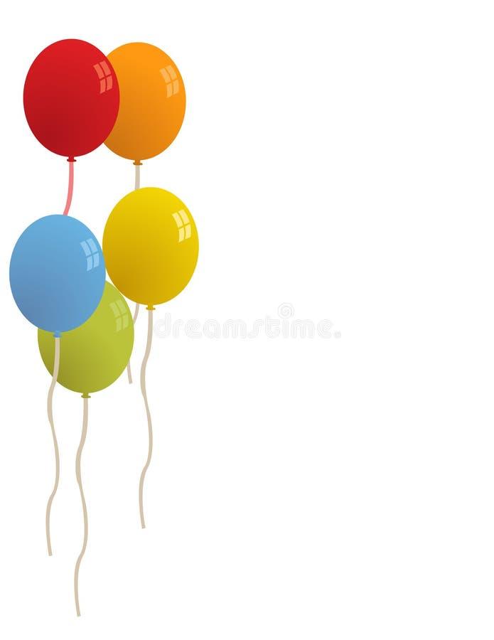 Ballons pour le vecteur de réception illustration stock