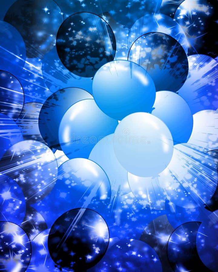 Ballons remplissant fond illustration de vecteur