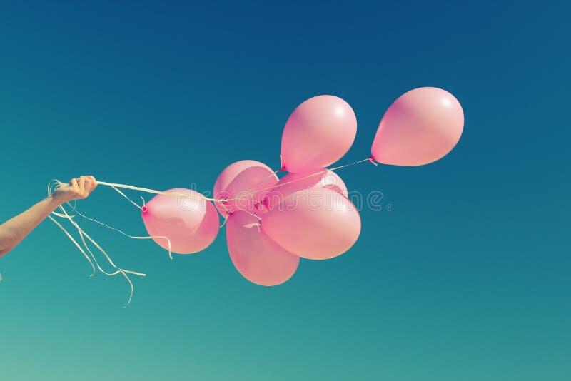 Ballons roses photos stock